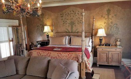 bedroom at Ballastone Inn