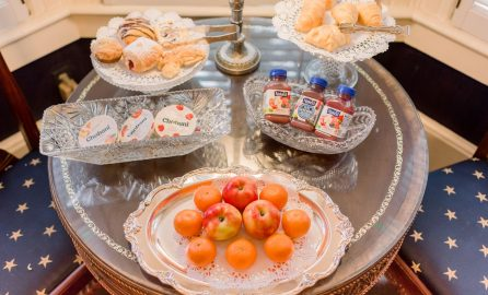 Ballastone Breakfast - baked goods served with yogurt and fresh fruit