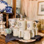 Ballastone Breakfast - closeup on tea and coffee setup