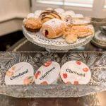 Ballastone Breakfast - closeup on scones and yogurt