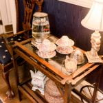 Ballastone Breakfast - tea setup on small table